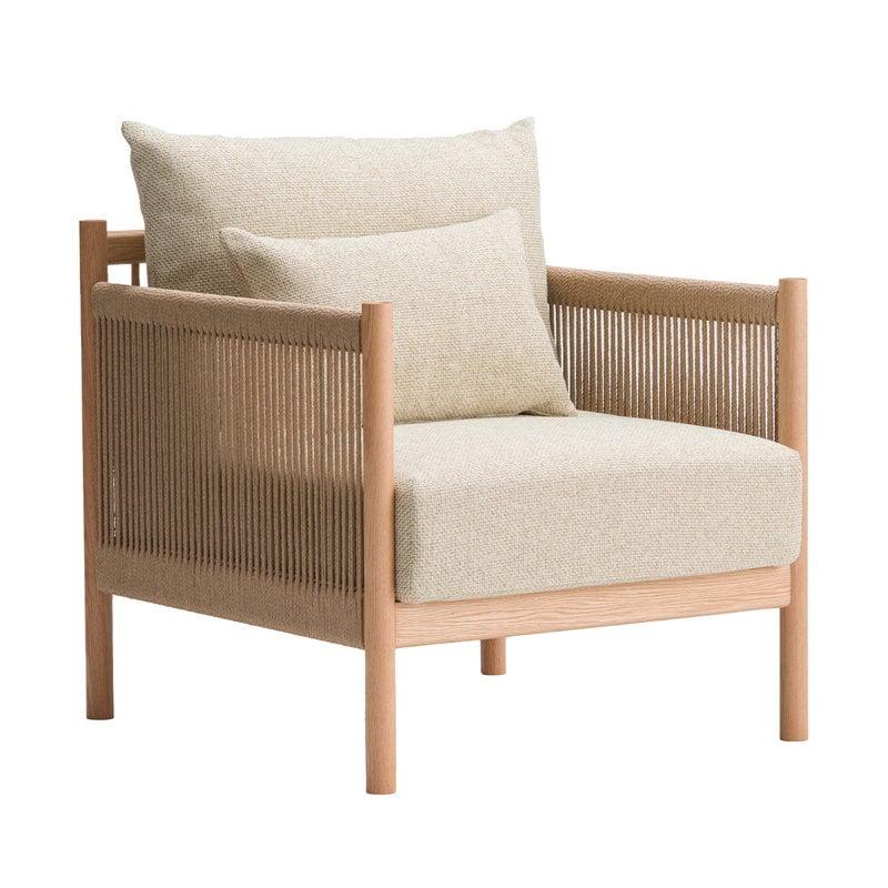 Ariake Braid lounge chair, oak