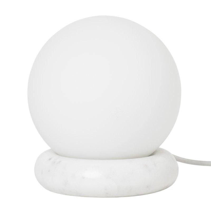 Ferm Living Rest pöytävalaisin, valkoinen marmori