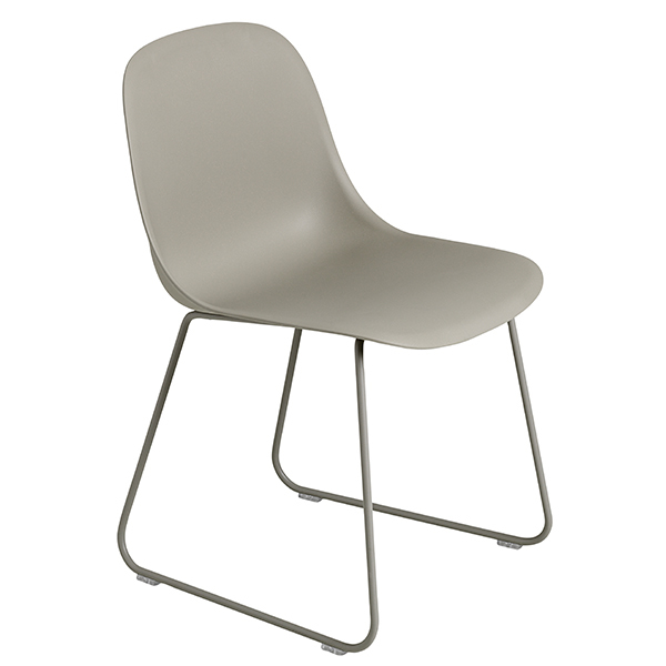Muuto Fiber side chair, sled base, grey