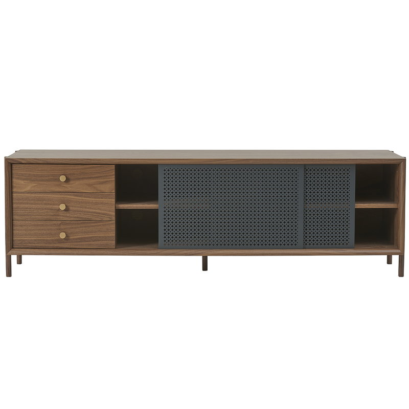 Harto Gabin sideboard with drawers 162 cm, walnut - slate grey