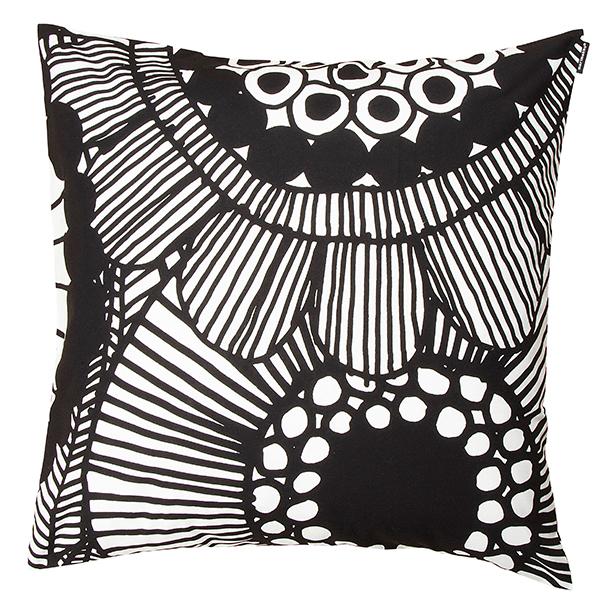 Marimekko Siirtolapuutarha cushion cover, black - white