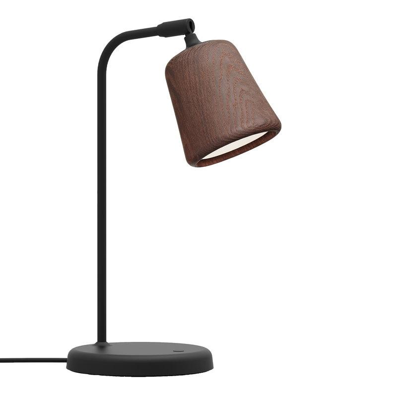 New Works Lampada da tavolo Material, rovere affumicato