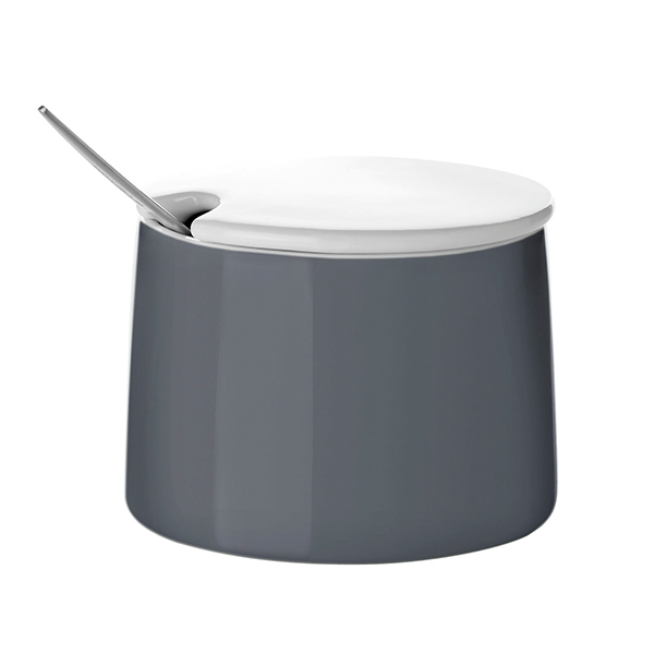 Stelton Emma sugar bowl, dark grey