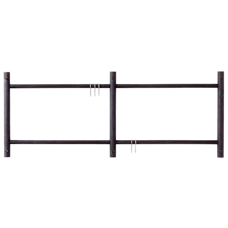Verso Design Tikas wall rack, black