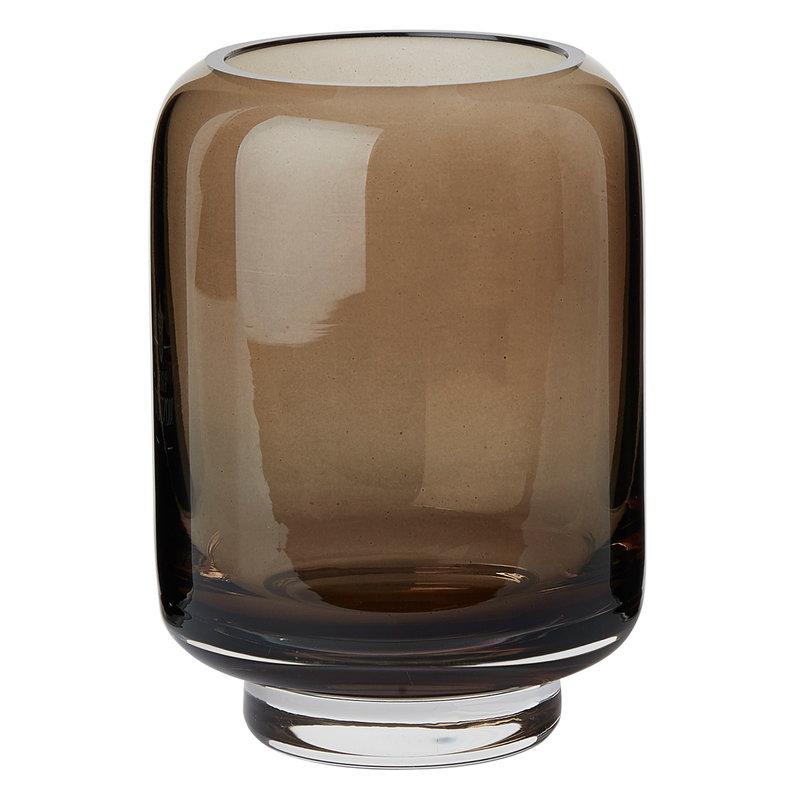 Warm Nordic Stack vase, brown