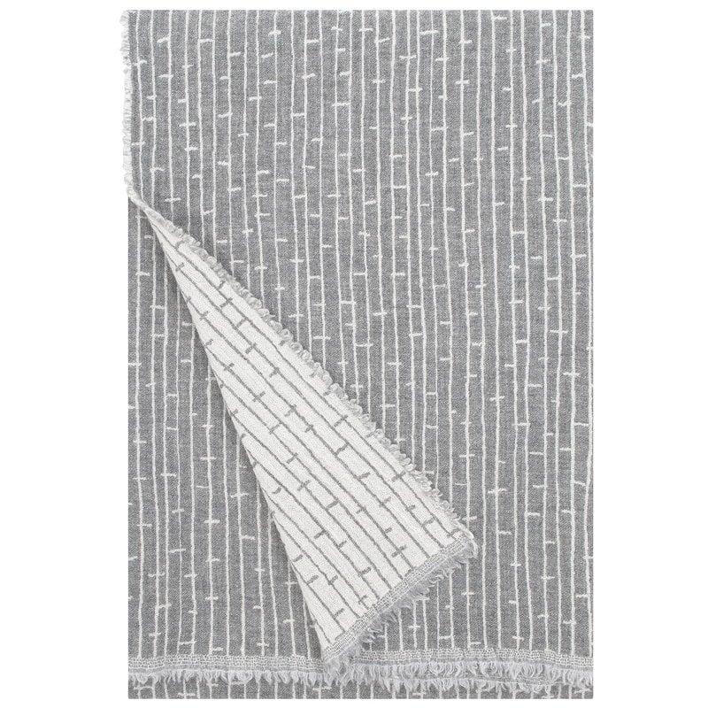 Lapuan Kankurit Metsä blanket, light grey