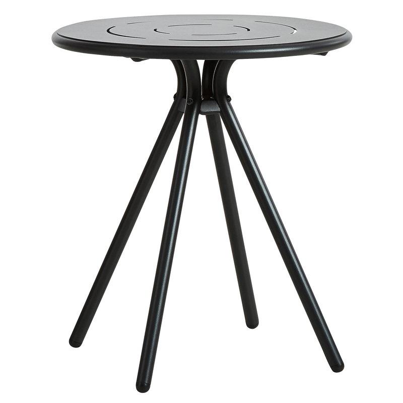 Woud Ray kahvilapöytä 65 cm, pyöreä, hiilenmusta