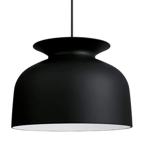 Gubi Ronde pendant 40 cm, charcoal black