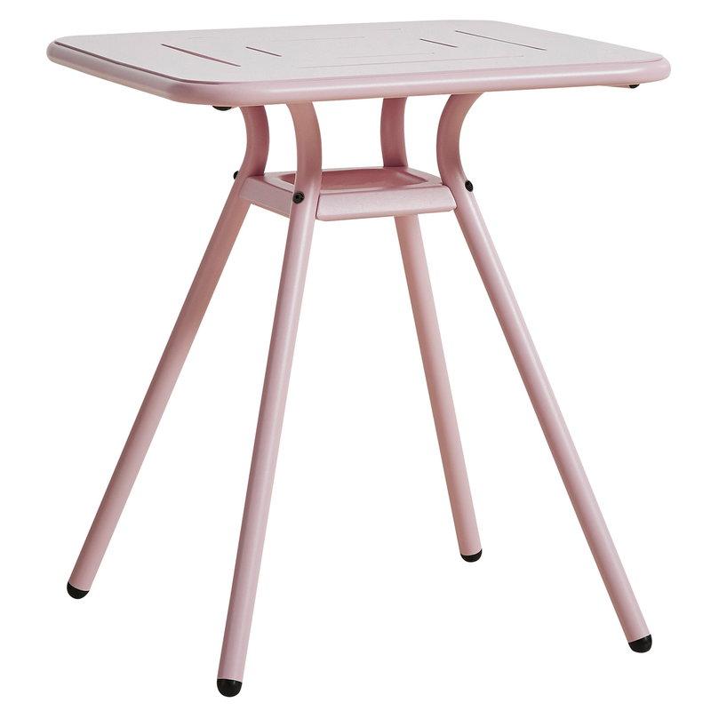 Woud Ray kahvilapöytä 65 cm, neliö, vaaleanpunainen