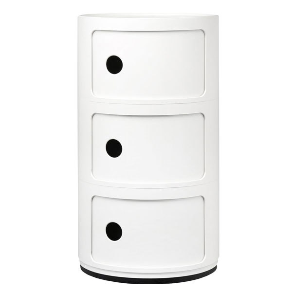 Kartell Componibili storage unit, 3 modules, white | Finnish Design Shop