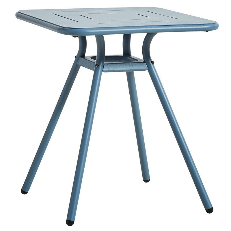 Woud Ray kahvilapöytä 65 cm, neliö, sininen