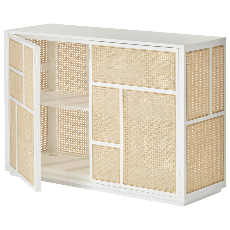 Design House Stockholm Air sideboard, white - cane