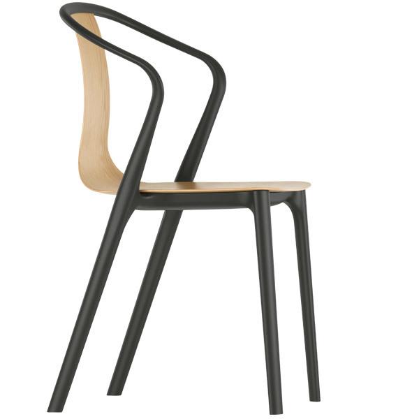 Vitra Belleville armchair, oak - black
