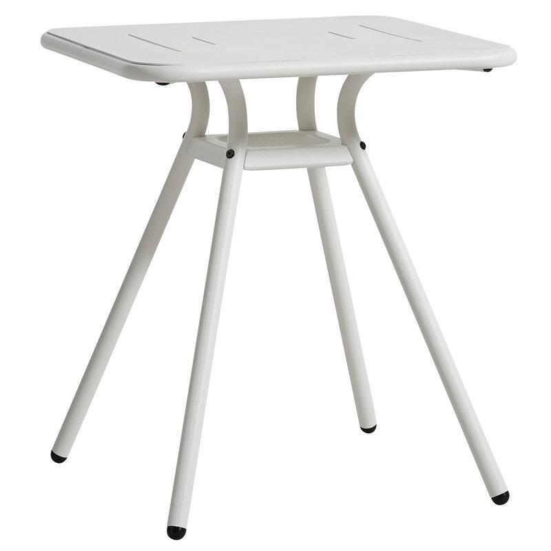 Woud Ray kahvilapöytä 65 cm, neliö, valkoinen