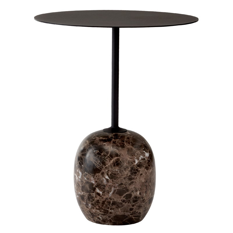 &Tradition Lato LN8 coffee table, black - Emperador marble