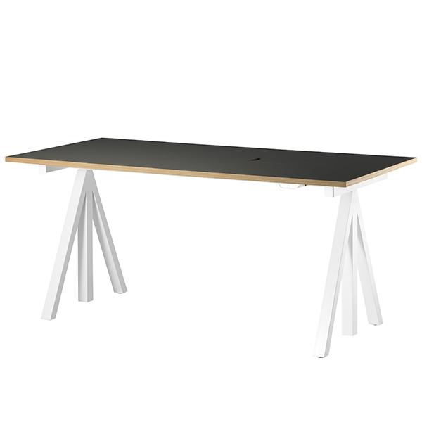String String Works korkeussäädettävä pöytä 160 cm, mustanharmaa