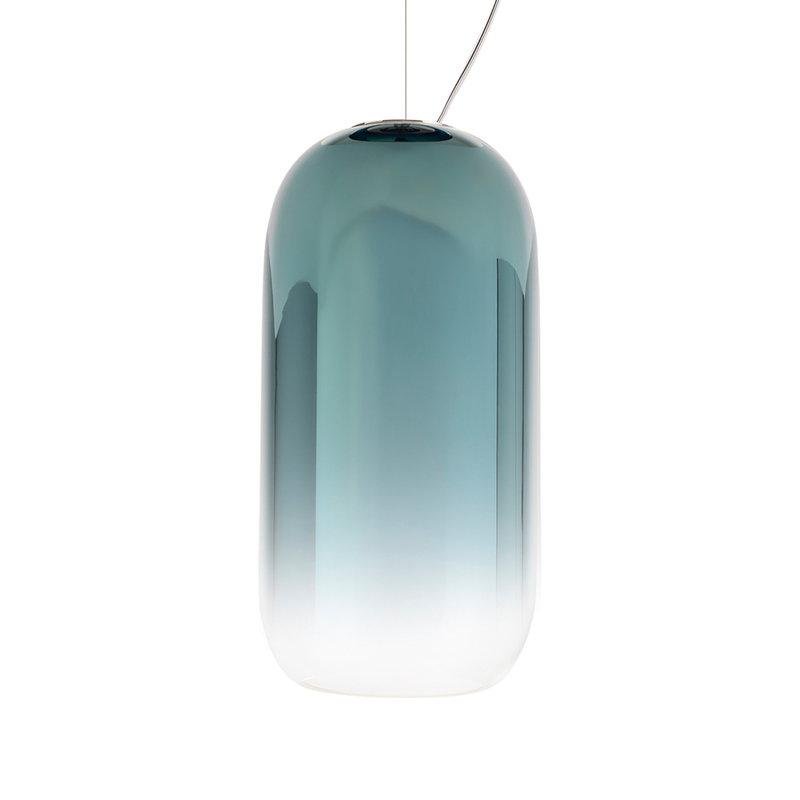Artemide Gople Mini pendant, blue