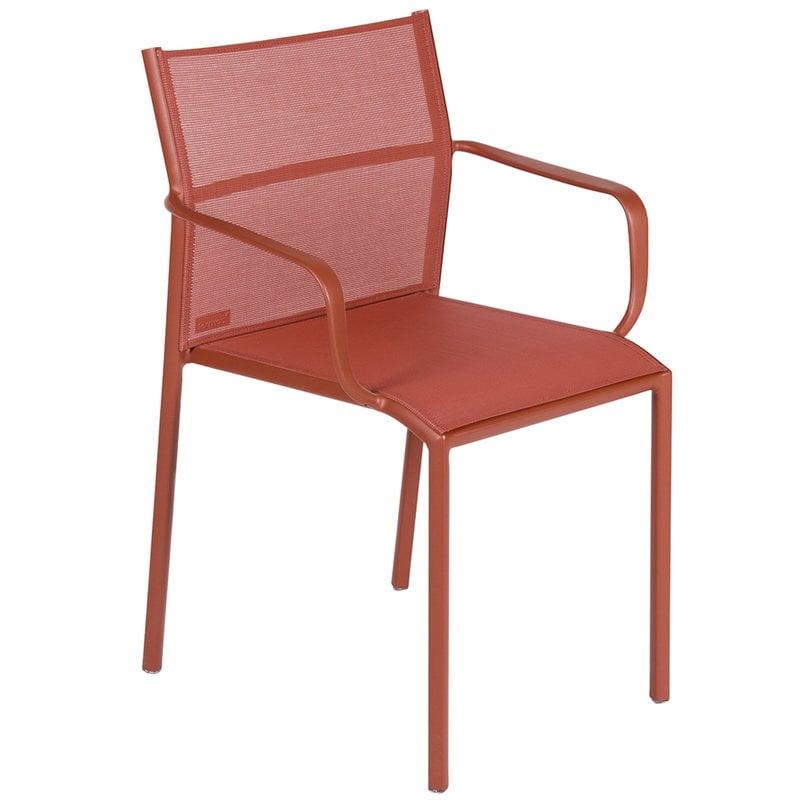 Fermob Cadiz käsinojallinen tuoli, red ochre