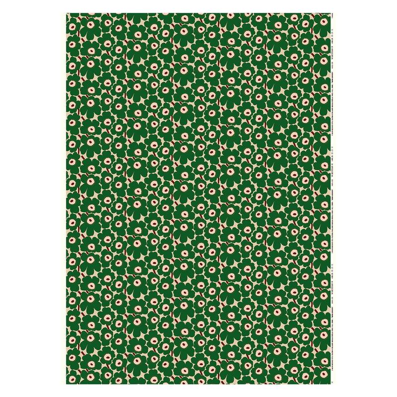 Marimekko Mini Unikko fabric,  beige - green - peach