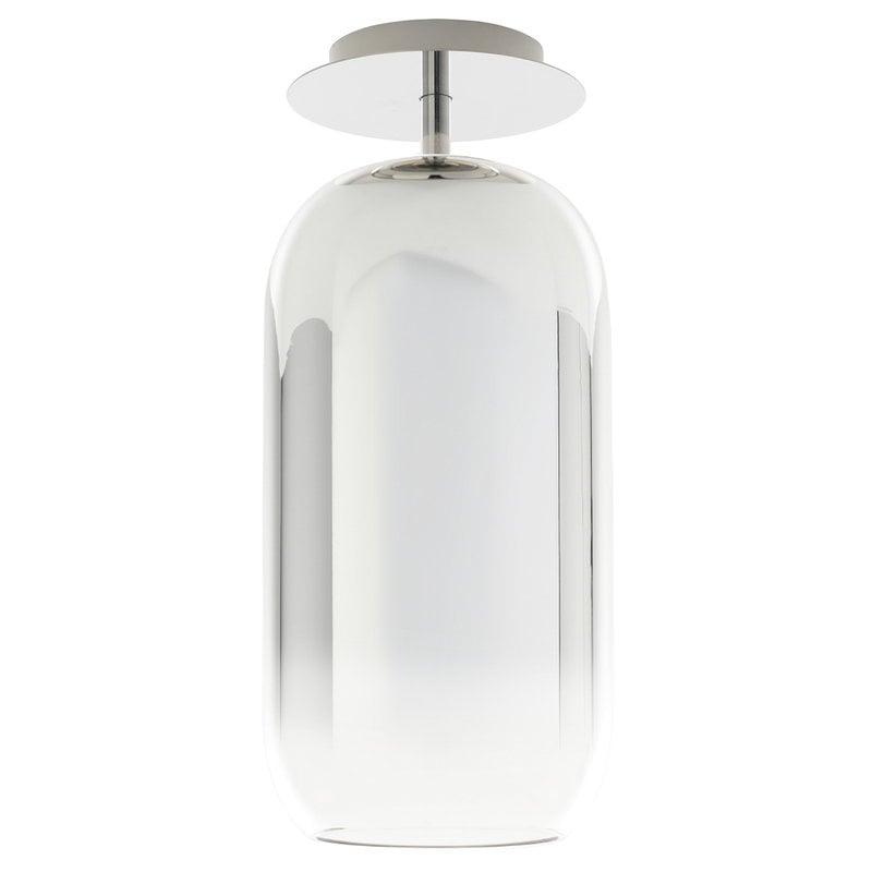 Artemide Gople ceiling lamp, silver
