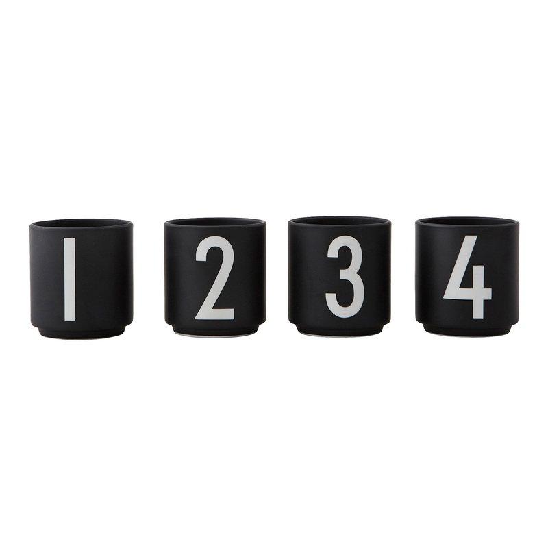 Design Letters Arne Jacobsen espresso cups, set of 4, black