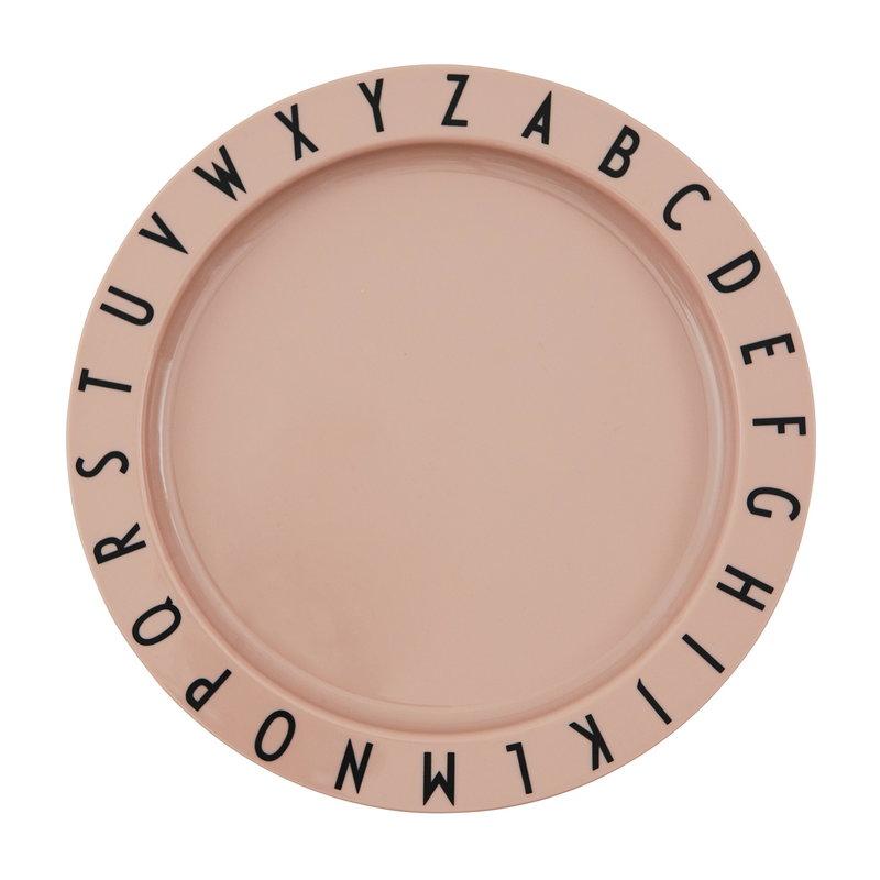 Design Letters Eat & Learn tritaanilautanen, vaaleanpunainen