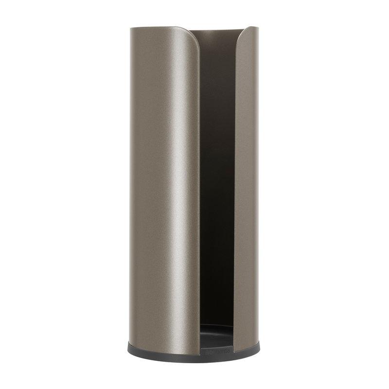 Brabantia ReNew toilet roll dispenser, platinum