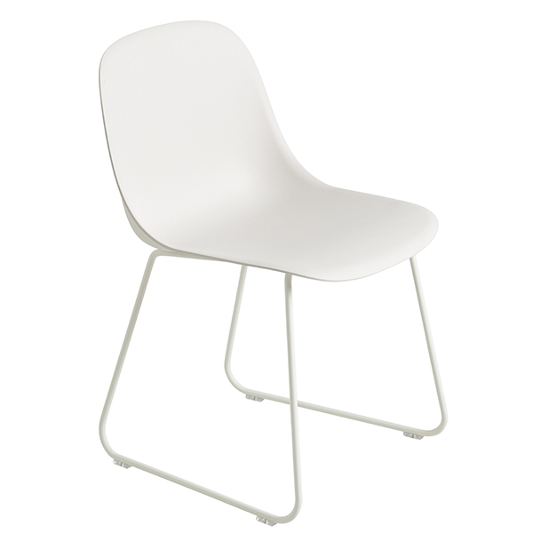 Muuto Fiber side chair, sled base, white