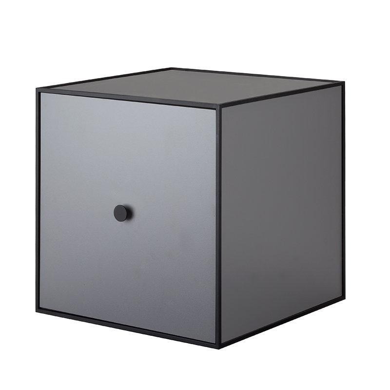 By Lassen Frame 35 box with door, dark grey
