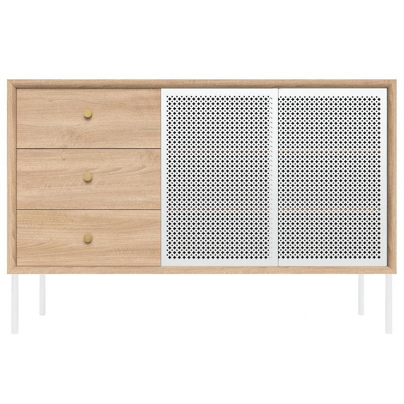 Harto Gabin senkki laatikostolla, korkea, tammi - valkoinen