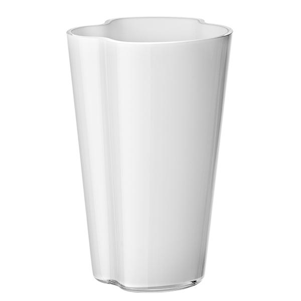 iittala aalto vase 220 mm white finnish design shop. Black Bedroom Furniture Sets. Home Design Ideas