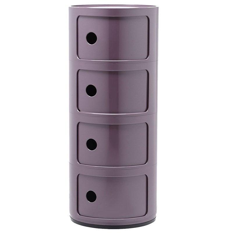 Kartell Componibili säilytyskaluste, 4-osainen, violetti