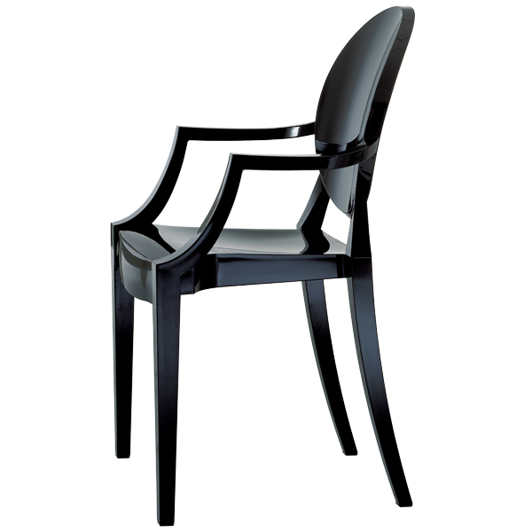 Louis Ghost Chair, Black