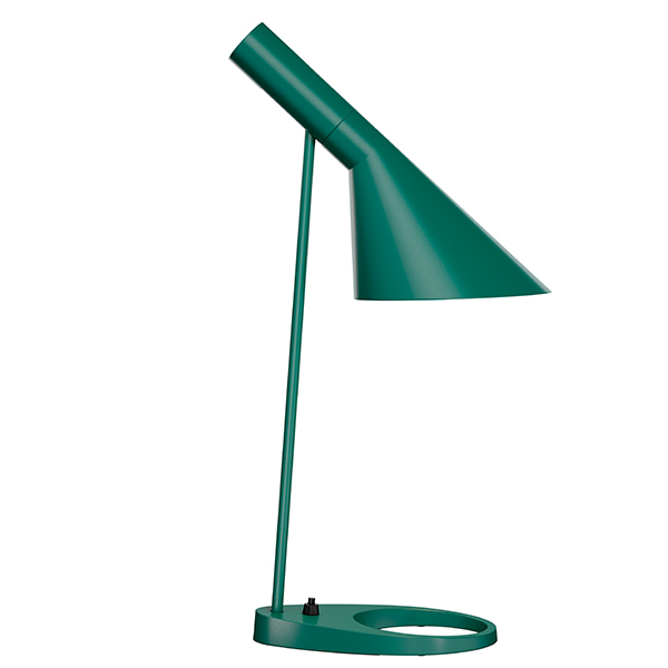 Louis Poulsen AJ table lamp, dark green
