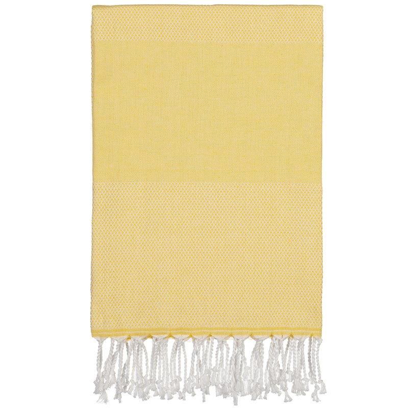 Langø Asciugamano in cotone 100 x 170 cm, giallo