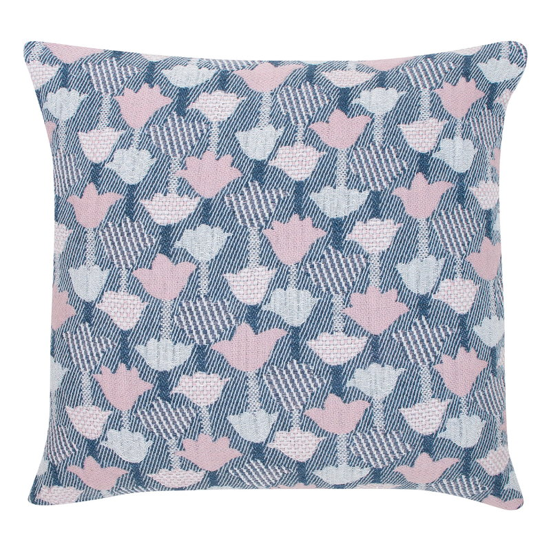 Lapuan Kankurit Tulppaani cushion cover 45 x 45 cm, rose - blue