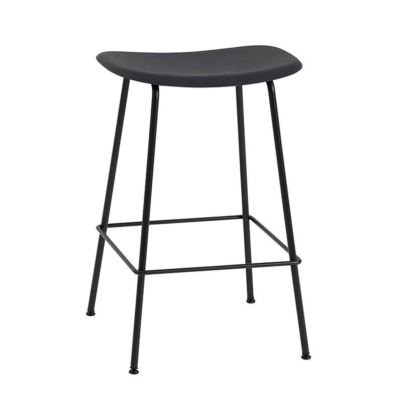 Muuto Fiber bar stool, tube base, black