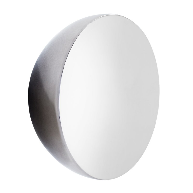 New Works Aura mirror, large, stainless steel