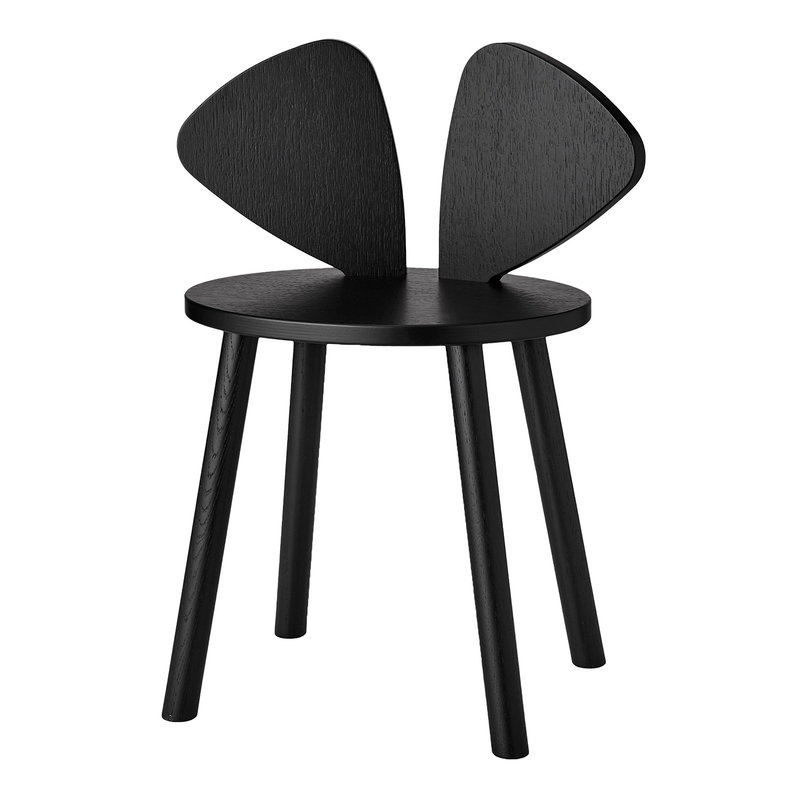 Nofred Mouse children's chair, black