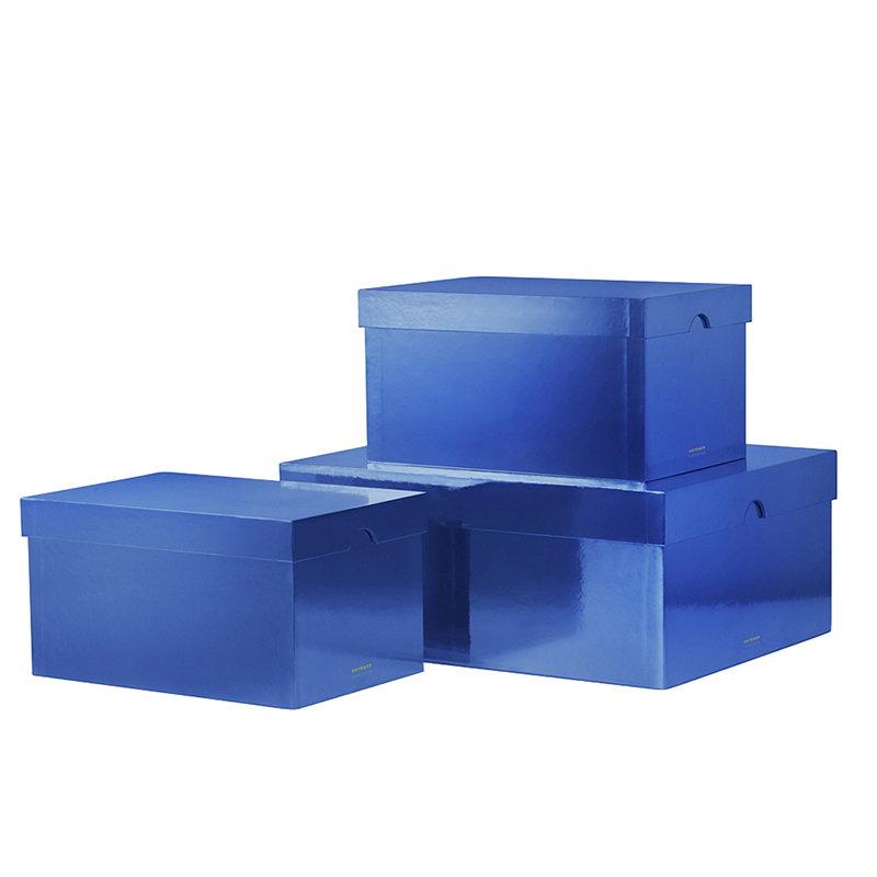 Normann Copenhagen Metallic boxes 3 pcs, ink blue