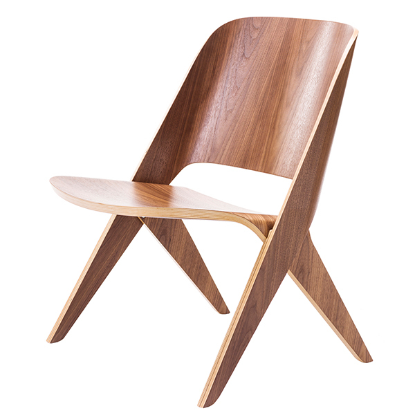 Poiat Lavitta lounge chair, walnut