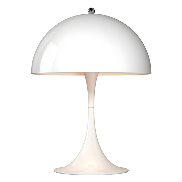 Louis Poulsen Lampada da tavolo Panthella Mini, bianca