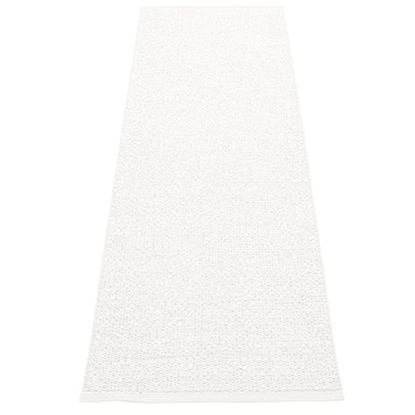 Pappelina Tappeto Svea 70 x 240 cm, white metallic