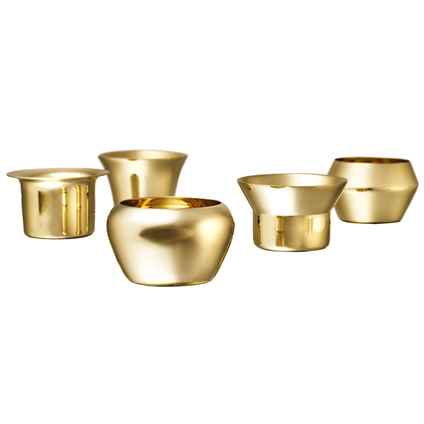 Skultuna Kin tealight set of 5, brass
