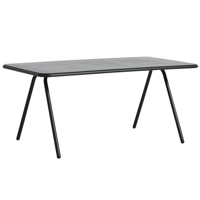 Woud Ray ruokapöytä 160 cm, hiilenmusta