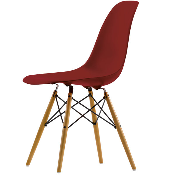 Vitra Eames DSW chair, oxide red - maple