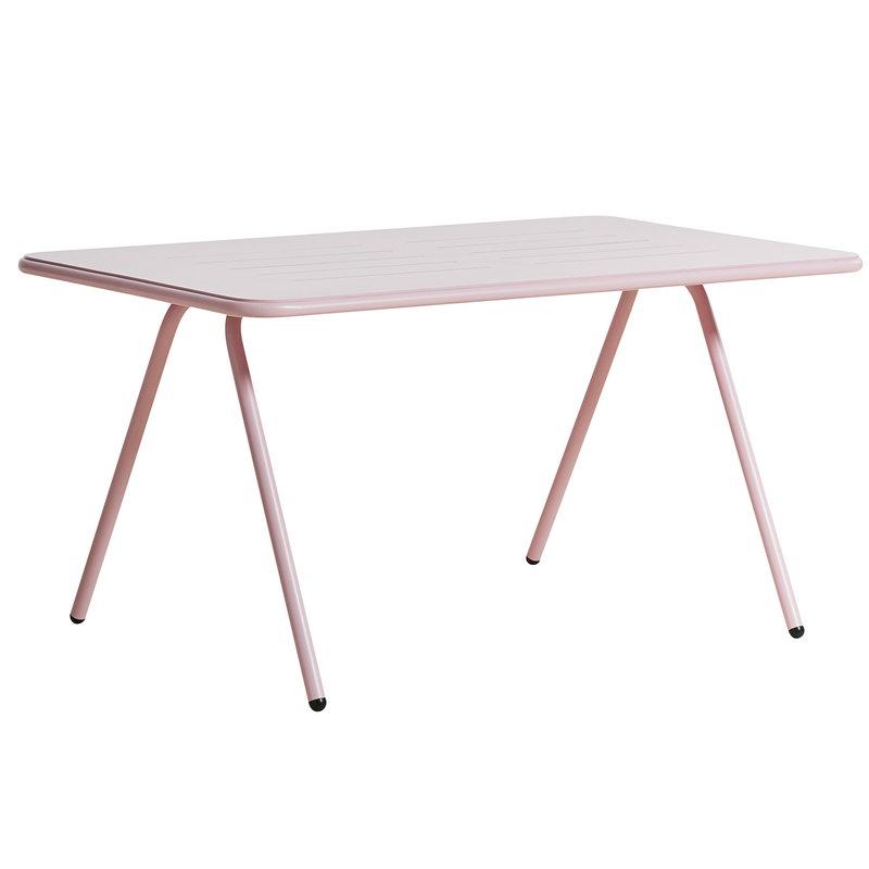 Woud Ray ruokapöytä 140 cm, vaaleanpunainen