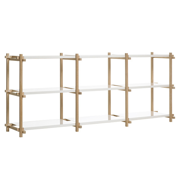 Hay Woody shelf, low, white