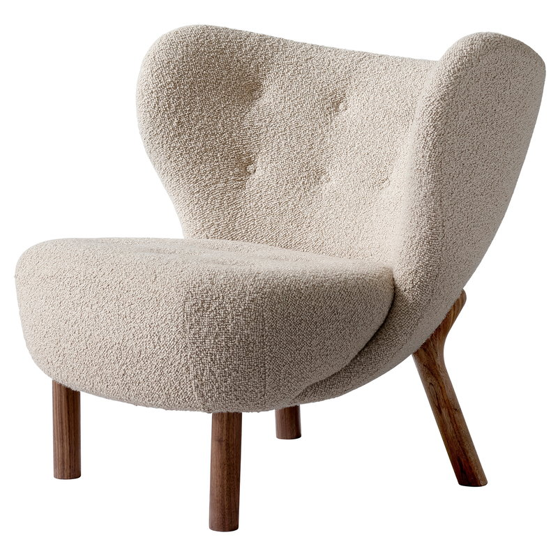 &Tradition Little Petra lounge chair, Karakorum 003 - walnut