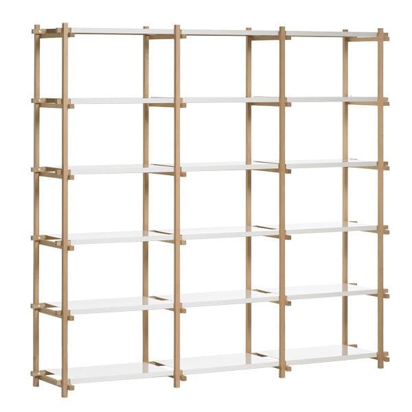 Hay Woody shelf, high, white